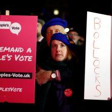 """Trys labiausiai tikėtini """"Brexit"""" scenarijai"""