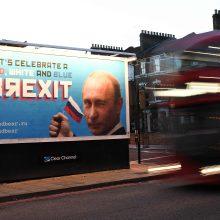 """Londone – satyrinės reklamos dėl Rusijos vaidmens """"Brexit"""" referendume"""