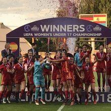 Septyniolikmečių merginų žemyno pirmenybės Lietuvoje baigėsi ispanių triumfu