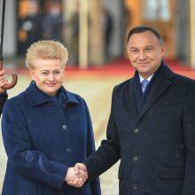 Lietuvos ir Lenkijos prezidentai žada aktyviau bendradarbiauti gynybos srityje