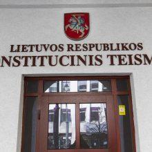 Dėl referendumo kartelės mažinimo planuojama atsiklausti Konstitucinio Teismo