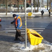 Miestai jau pradėjo tvarkytis po žiemos