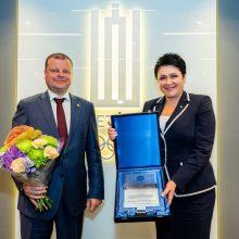 Ministrui pirmininkui S. Skverneliui – Tarptautinio olimpinio komiteto apdovanojimas