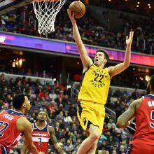 """Be D. Sabonio žaidusi """"Pacers"""" ekipa patyrė pralaimėjimą Vašingtone"""