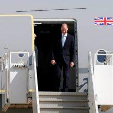 Didžiosios Britanijos princas Williamas atvyko į Izraelį