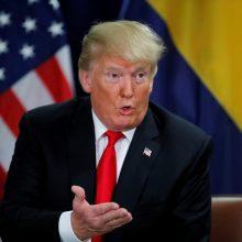 D. Trumpo kalba JT Generalinėje Asamblėjoje prajuokino pasaulio lyderius