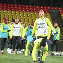 Lietuvos futbolo rinktinė susirinko į treniruočių stovyklą