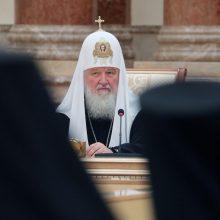 """Rusijos patriarchas Kirilas užsipuolė """"atskalūnišką"""" Konstantinopolio patriarchatą"""