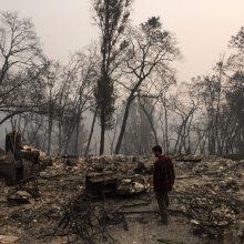 Dėl miškų gaisrų Kalifornijoje San Franciskas skendi smoge