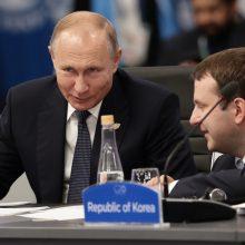 Nesutarimų temdomame G-20 viršūnių susitikime V. Putinas pažėrė kritikos D.Trumpui