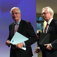 "Britanija ir ES ""imasi darbo"" dėl ""Brexit"""