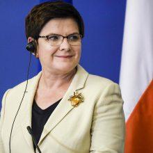 Lenkijos valdančioji partija džiaugiasi Vokietijos rinkimų rezultatais