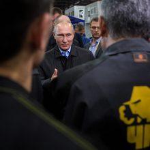 V. Putinas: JAV išgalvojo dopingo skandalą, kad paveiktų Rusijos prezidento rinkimus