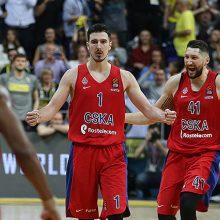 Rusijos klubų dvikovą Eurolygoje laimėjo CSKA