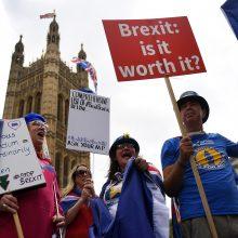 """Th. May laimėjo svarbų balsavimą dėl parlamento vaidmens """"Brexit"""" procese"""