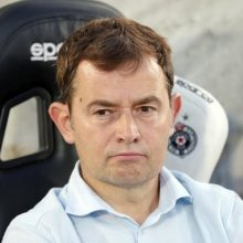 """""""Trakų"""" treneris K. Vicuna: nežinau, kur yra """"Trakų"""" lubos, bet jų dar nepasiekėme"""
