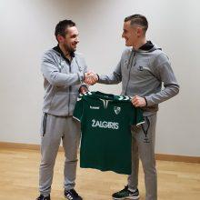 """Lietuvos rinktinės futbolininkas E. Vaitkūnas žais """"Kauno Žalgiryje"""""""