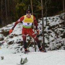 Biatlonininkas K. Dombrovskis: po finišo nesitikėjau išlikti tarp stipriausių