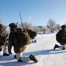 Nyderlandų kariams lietuviška žiema treniruotis netrukdo