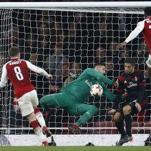 """Po D. Welbecko dublio """"Arsenal"""" pateko į Europos lygos ketvirtfinalį"""