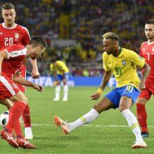 Pasaulio čempionatas: Brazilija nugalėjo Serbiją ir pateko į aštuntfinalį