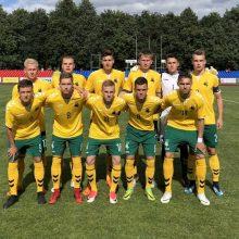 Lietuvos jaunių futbolo rinktinė pergale pradėjo Baltijos taurės turnyrą