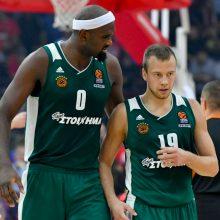 """L. Lekavičius rungtynėse su """"Maccabi"""" pelnė 13 taškų, """"Panathinaikos"""" šventė pergalę"""