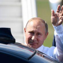 V. Putinas atskrido į Helsinkį dalyvauti istoriniame susitikime su D. Trumpu