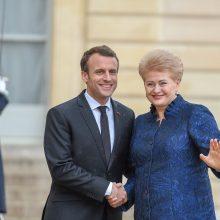 Lietuvos ir Prancūzijos prezidentai aptarė ES reformas, saugumą