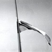 Įamžino: Gedimino pilies bokšto vėliava, kurią išsaugojo D.Burbulis, Sausio 13-ąją buvo nuleista iki pusės stiebo.