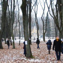 Jautrūs: boluojantys lapai ant medžių, žvakių liepsnelės patraukė įvairaus amžiaus kauniečių dėmesį.