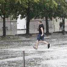 Po liūties Klaipėdoje – laistyti medžių