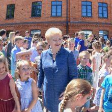 Kaune apsilankiusi D. Grybauskaitė: vaikų užimtumas – investicija į valstybės ateitį