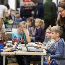 Vaikai R. Meilutytės rekordus gerins programuodami