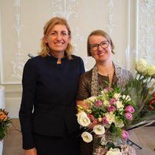 Šv. Jeronimo premijų laureatės – A. Kudulytė-Kairienė ir S. Drude