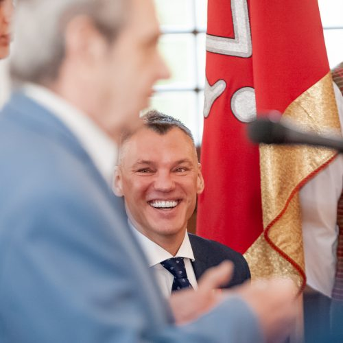 Š. Jasikevičiui įteiktos garbės piliečio regalijos  © Eitvydo Kinaičio nuotr.