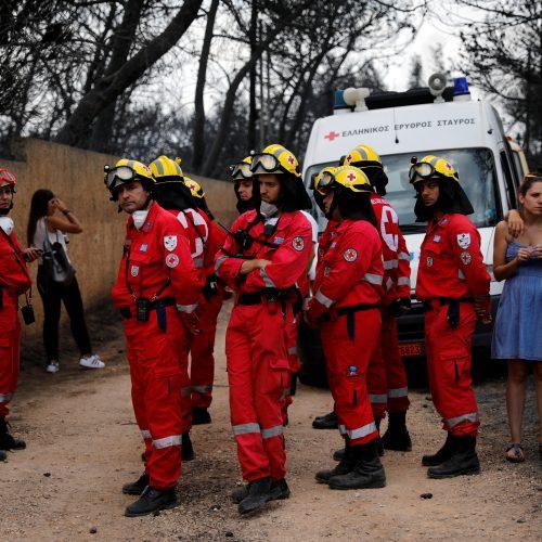 Graikijoje siaučia miškų gaisrai  © Scanpix nuotr.