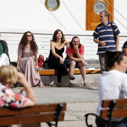 Atvira Klaipėdos muzikinio teatro solistų repeticija