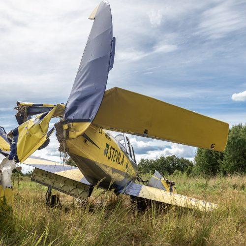 Aleksoto aerodrome nukrito lėktuvas  © Eitvydo Kinaičio nuotr.