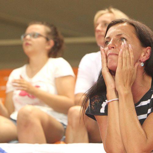 Krepšininkių fanai Europos čempionate  © Evaldo Šemioto nuotr.