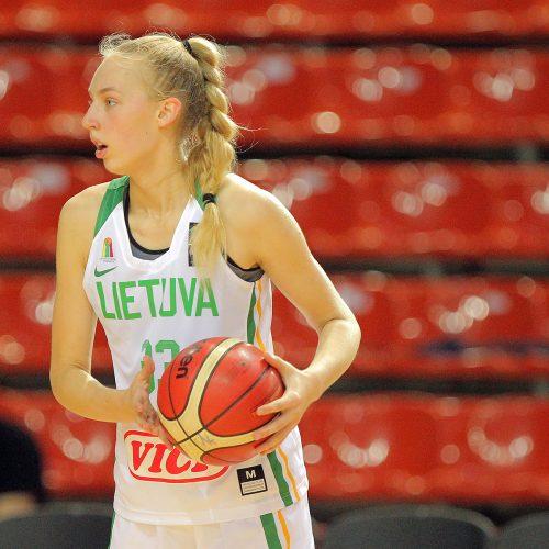 Kontrolinės. Lietuva U16 – Prancūzija U16 53:57  © Evaldo Šemioto nuotr.