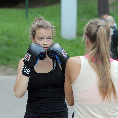 Nemokamos kovos menų treniruotės Kaune  © Evaldo Šemioto nuotr.