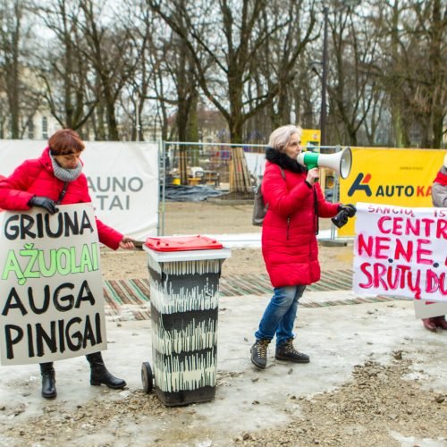 Šančių protestas dėl automobilių plovyklos