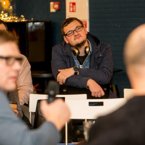 Išskirtinis susitikimas su rašytoju Dailiumi Dargiu  © Vilmanto Raupelio nuotr.
