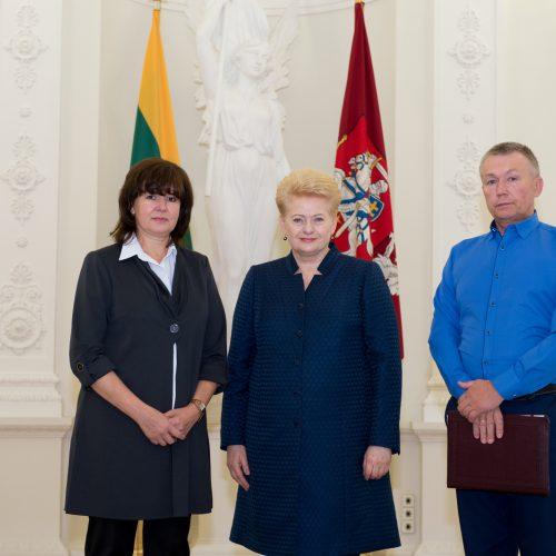 Prezidentė įteikė Žūvančiųjų gelbėjimo kryžius  © Prezidento kanceliarijos nuotr.