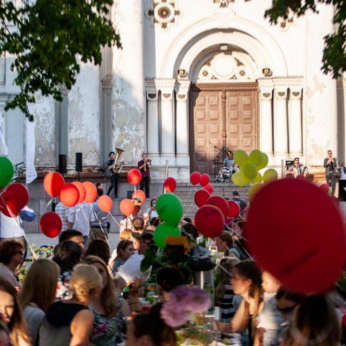 """""""Kiemų šventė"""" Laisvės alėjoje <span style=color:red;>(2018)</span>  &#169; Krisčio Balčiūno ir Evaldo Šemioto nuotr."""