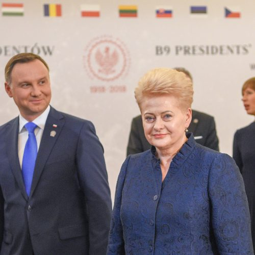 Baltijos ir Vidurio Europos šalių vadovų susitikimas Lenkijoje  © R. Dačkaus / Prezidentūros nuotr.