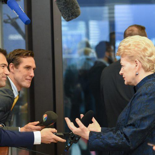 Prezidentė susitiko su ES vadovais  © R. Dačkaus / Prezidentūros nuotr.