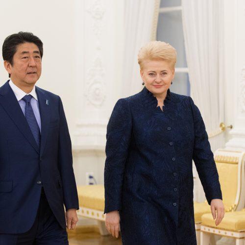 Prezidentė susitiko su Japonijos premjeru  © BFL nuotr.