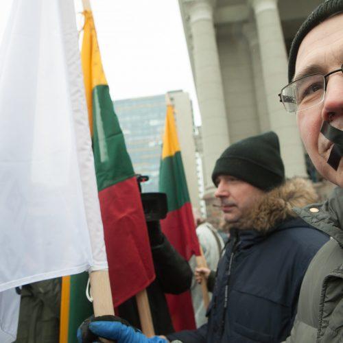 Policijos pareigūnų protestas prie Seimo  © BFL nuotr.